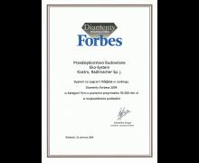 I miejsce w rankingu Diamenty Forbes 2009, w województwie podlaskim